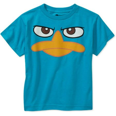 Phineas & Ferb - Perry The Platypus Face Youth T-Shirt