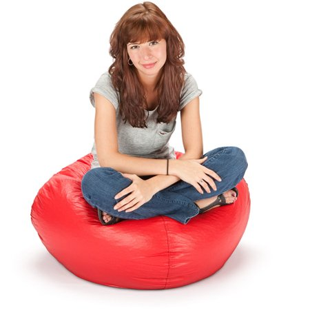 96 Round Vinyl Matte Bean Bag Available In Multiple Colors
