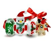 925 Sterling Silver Glass Christmas Bead 4 Charm Set Pandora Compatible
