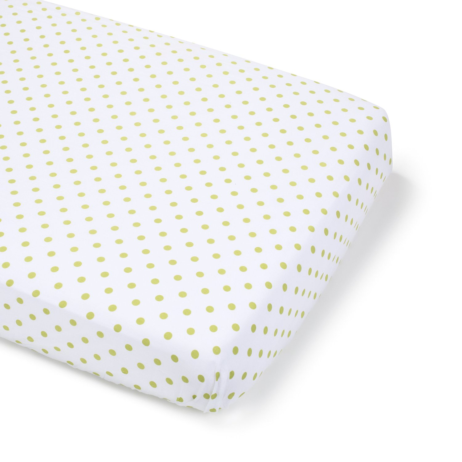 Summer Infant Full Size Crib Sheet - Green Polka Dot