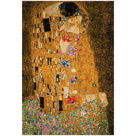 Gustav Klimt The Kiss 8 Bit Poster - - Klimt The Kiss Halloween