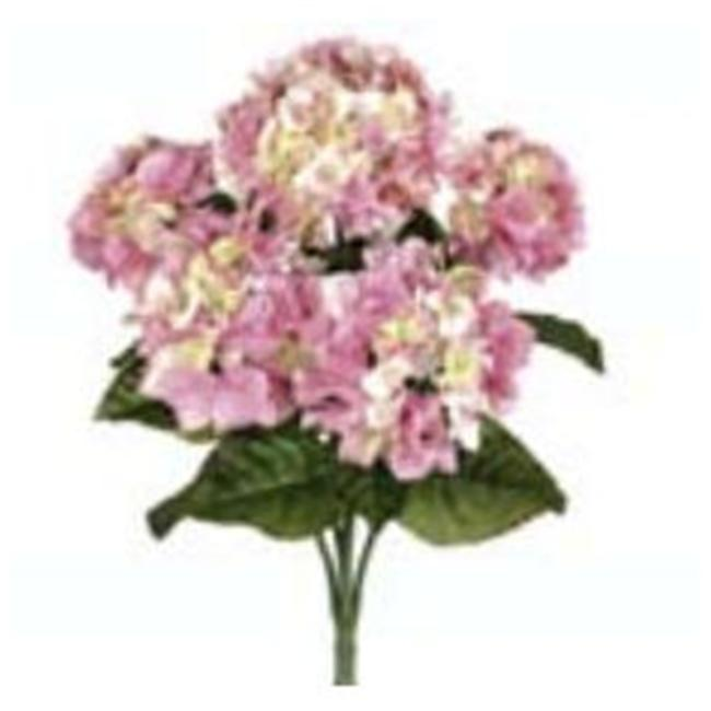 Image of FBH335-PK 22 in. Pink Hydrangea Bush X5- Case of 6