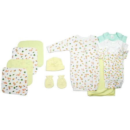 Bambini Newborn Baby Shower Layette Gift Box Set, 11pc (Baby Boys Or Baby Girls, Unisex) - Idee Costumi Halloween Bambini