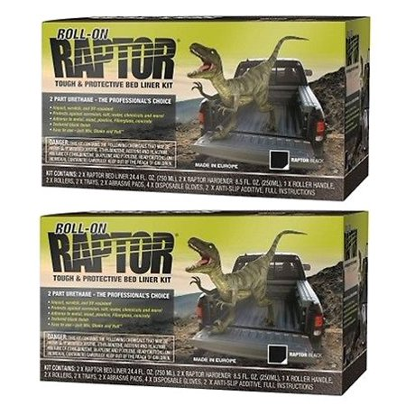 U-POL 5010 Raptor Black 2 Liter Urethane Roll-On Truck Bed Liner Kits,