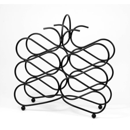 Scroll 12-Bottle Wine Rack - Black Wine Rack