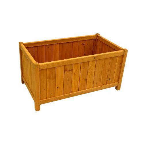 Leisure Season Rectangular Planter Box, Medium Brown by Garden Planters