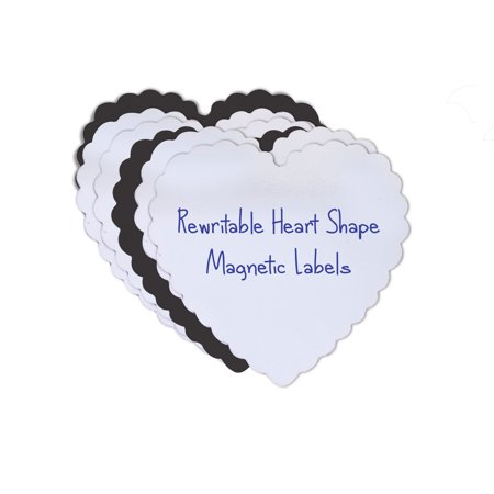 Shelf Write On Labels (Heart Shaped Magnetic Dry Erase Shelf Labels - My Valentine Write-On Magnets (24))