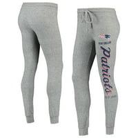 Women's Heathered Gray New England Patriots Academia Cuffed Pants