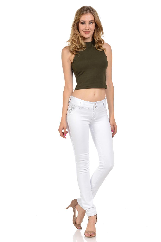 M.Michel Women's Jeans Colombian Design, Butt Lift, Levanta Pompa, Push Up, Skinny · Style N3150