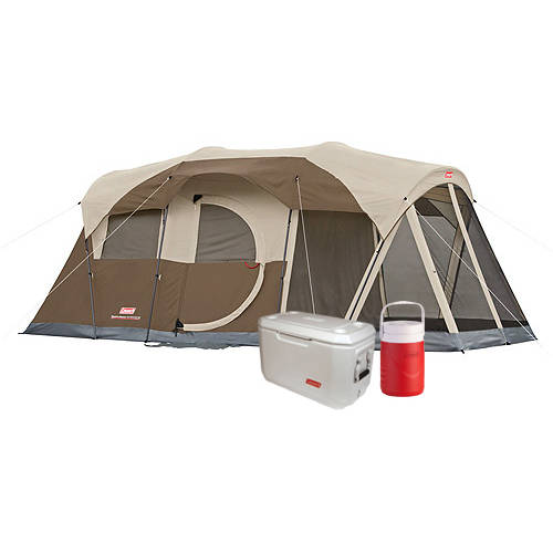 Coleman Weathermaster Tent with 70-Quart Cooler and 1 Gallon Jug Value Bundle