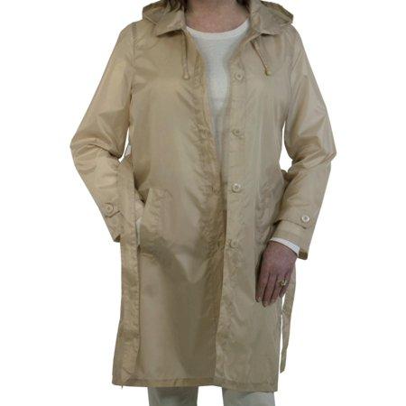 - Sporto Women's Lightweight Packable Rain Jacket Khaki XX-Large