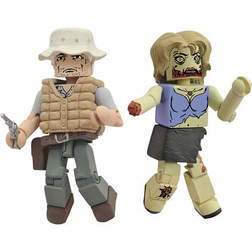 Walking Dead Dale and Zombie Mini Figures