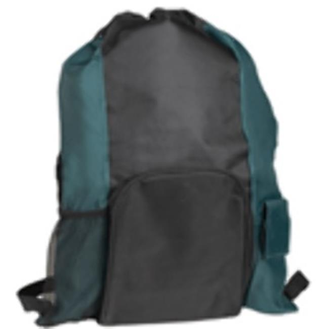 DDI 1473937 Islander Drawstring Tote-Backpack In One-GREEN-BLACK Case Of 72