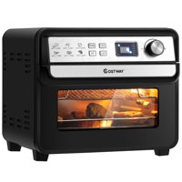 Costway 12-in-1 Air Fryer 23-QT Digital Toaster Oven with 9 Accessories