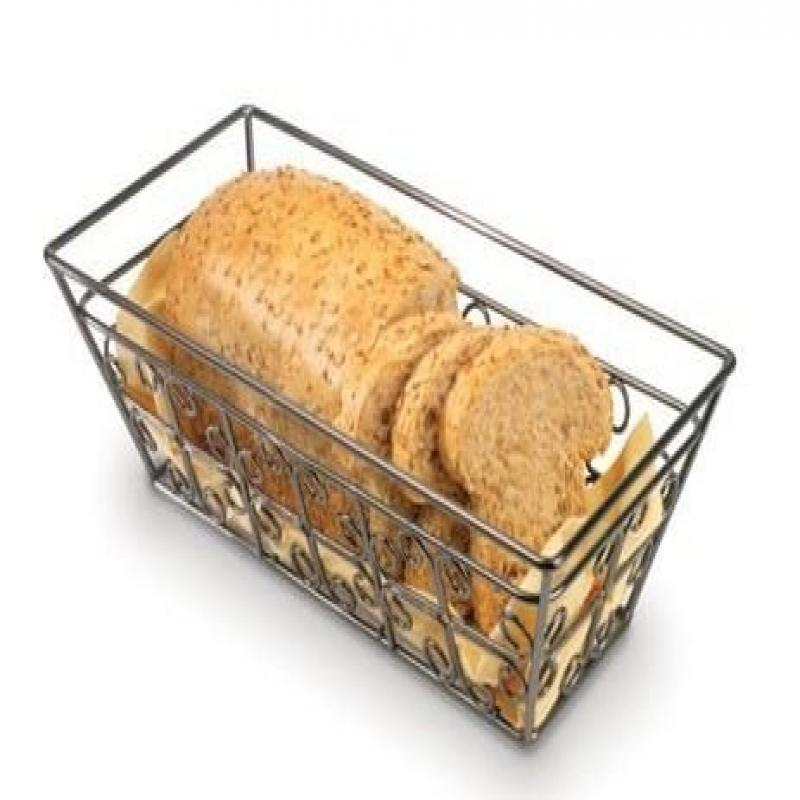 Anchor Hocking Reflections Wire Bread Basket with a Bronze Finish, 17 x 8 Inch by