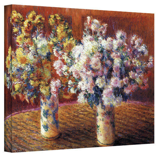 "Claude Monet ""Two Vases"" Wrapped Canvas Art"