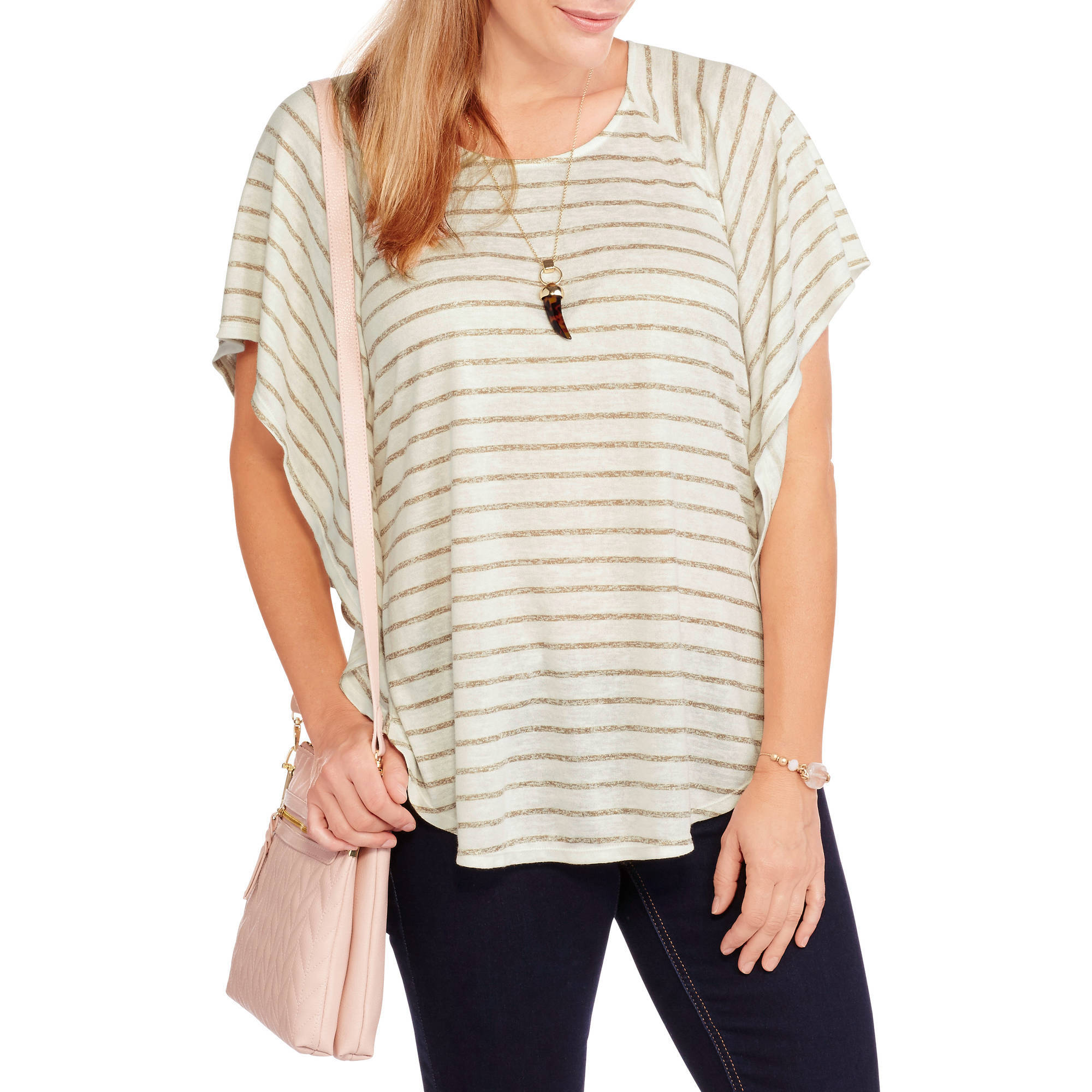 Faded Glory Women's Soft Knit Poncho Top