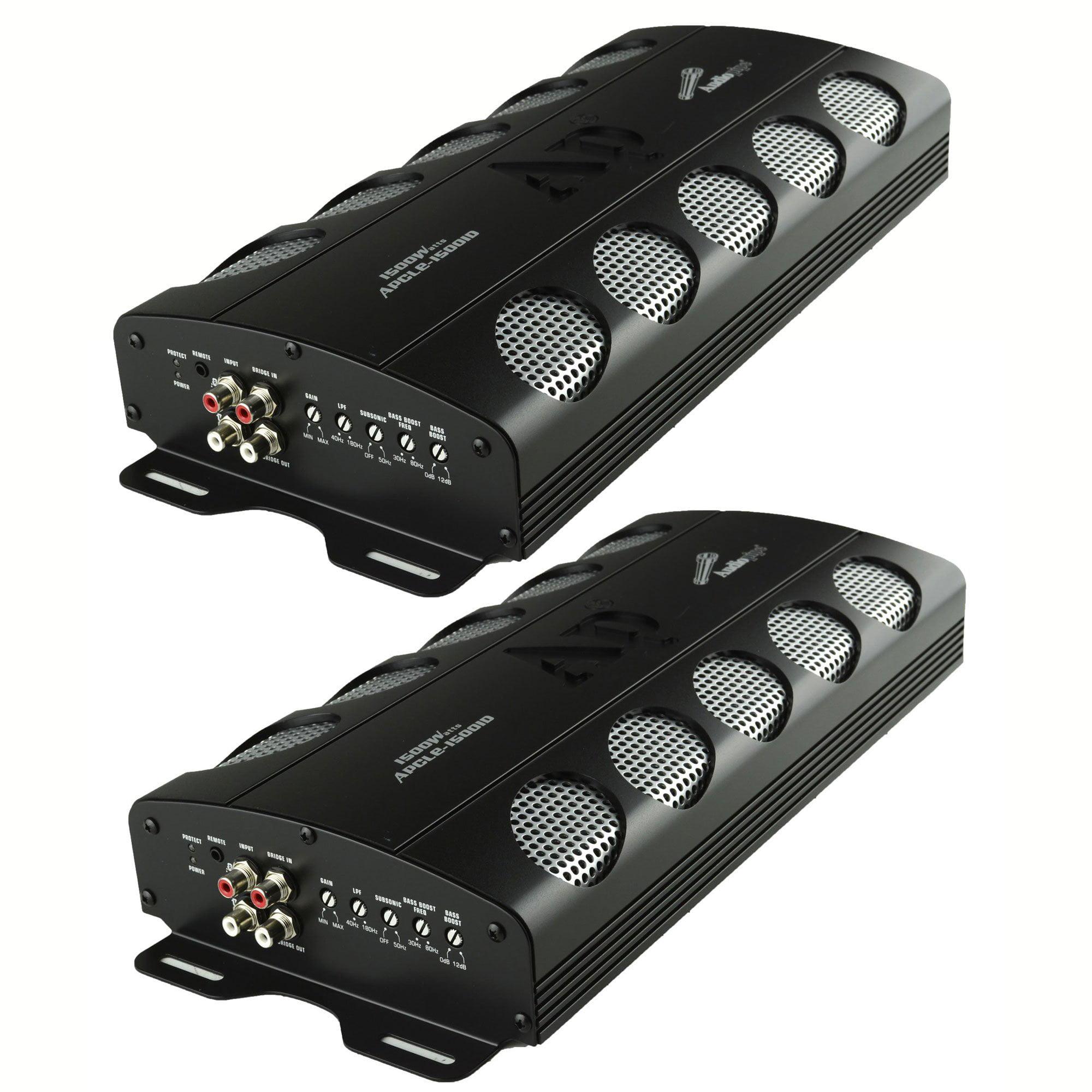 Audiopipe APCLE 1500 Watt Class D 1 Ohm Stable Car Audio Mono Amplifier (2 Pack)
