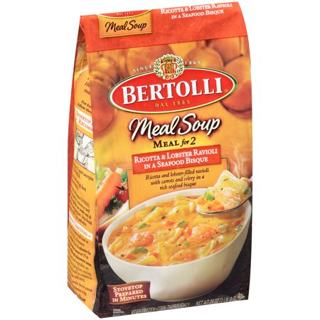 Bertolli® Meal Soup Meal for 2 Ricotta & Lobster Ravioli in a Seafood Bisque 24 oz. Bag ...