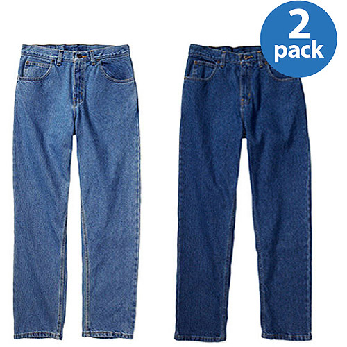 Faded Glory Men's Original Fit Jeans, 2 Pack, Your Choice