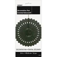 Tissue Paper Fan Decoration, 16 in, Black, 1ct