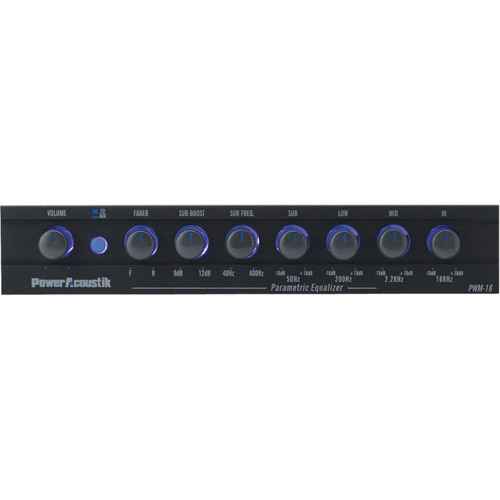 Power Acoustik PWM-16 - 4-Band ?? DIN Equalizer