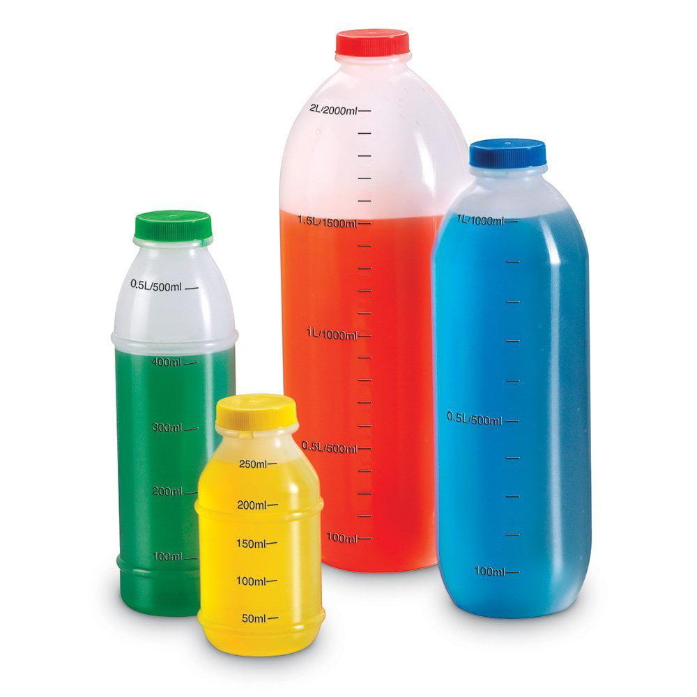 Liter Measurement Set, Set of 4 sealable bottles