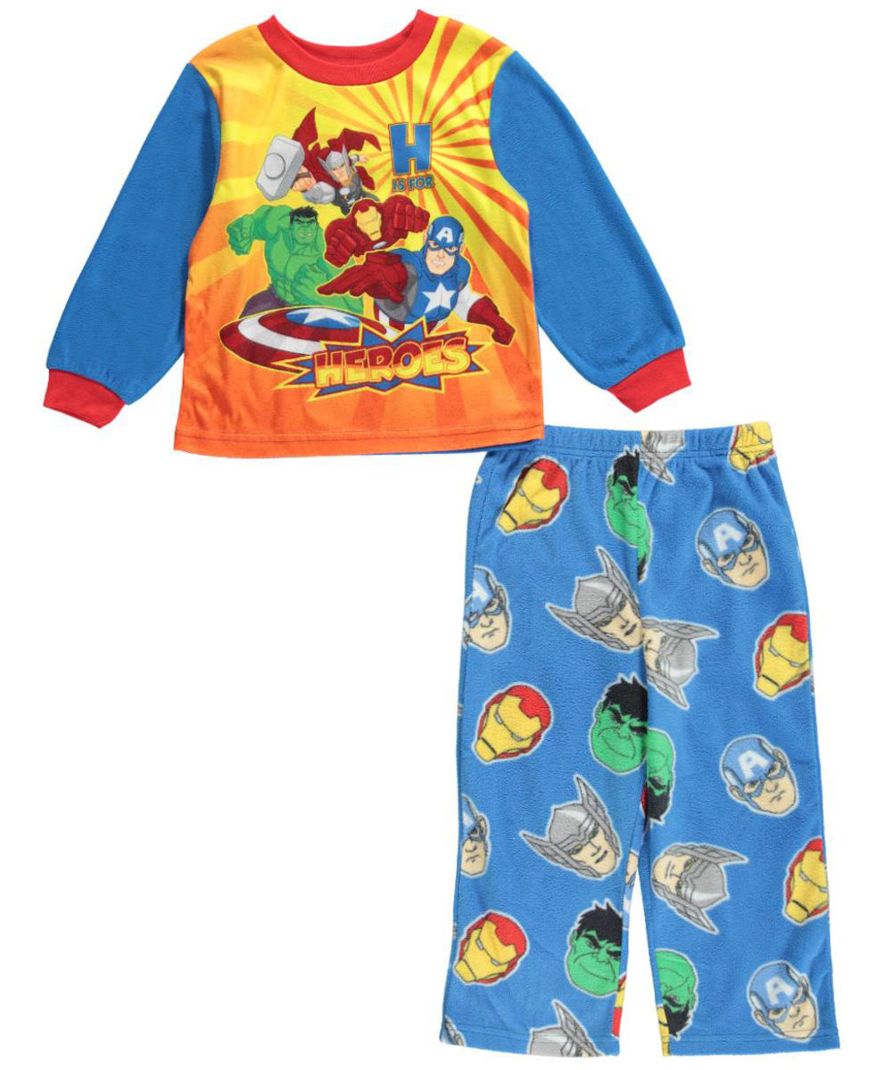 """Avengers Little Boys' Toddler """"H for Heroes"""" 2-Piece Pajamas (Sizes 2T - 4T)"""