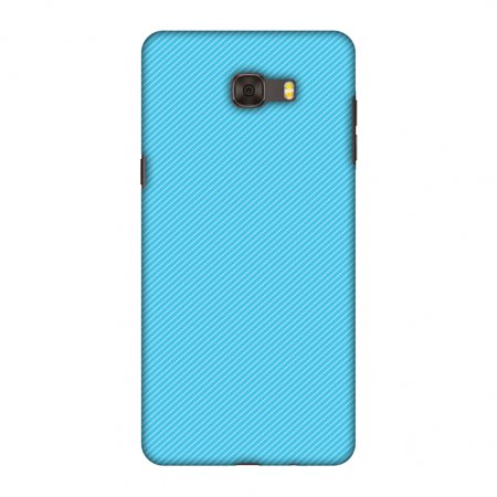 Samsung Galaxy C9 Pro Case, Premium Handcrafted Designer Hard Shell Snap On Case Printed Back Cover with Screen Cleaning Kit, Slim, Protective - Carbon Fibre Redux Aqua Blue 17