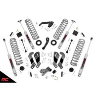 """Rough Country 3.5"""" Lift Kit compatible w/ 2007-2018 Jeep Wrangler JK 2DR Suspension System"""