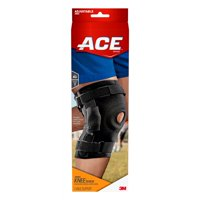 13183ecf03 Product Image ACE Brand Hinged Knee Brace, Adjustable, Black, 1/Pack