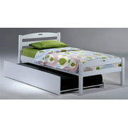 Sesame Twin Bed in White w Trundle