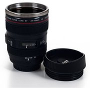 Whetstone Camera Lens Coffee Mug with Lid