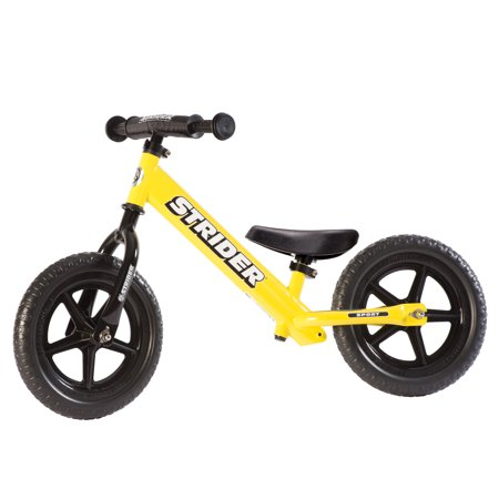 Strider - 12 Sport Balance Bike, Ages 18 Months to 5 Years - Yellow