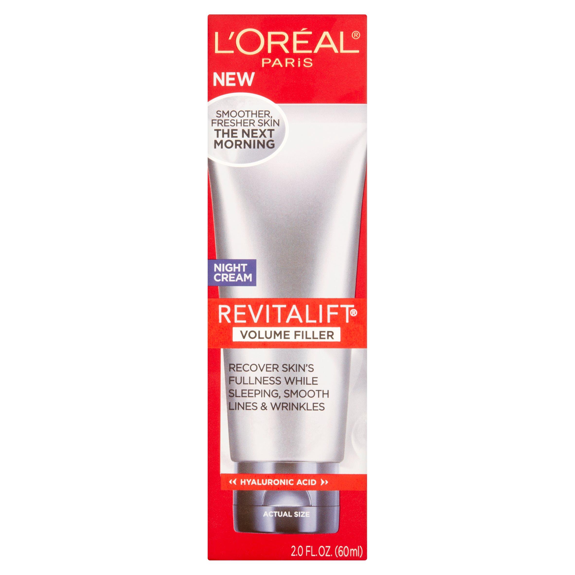 L'Oreal Paris Revitalift Volume Filler Night Cream, 2.0 fl oz - Walmart.com