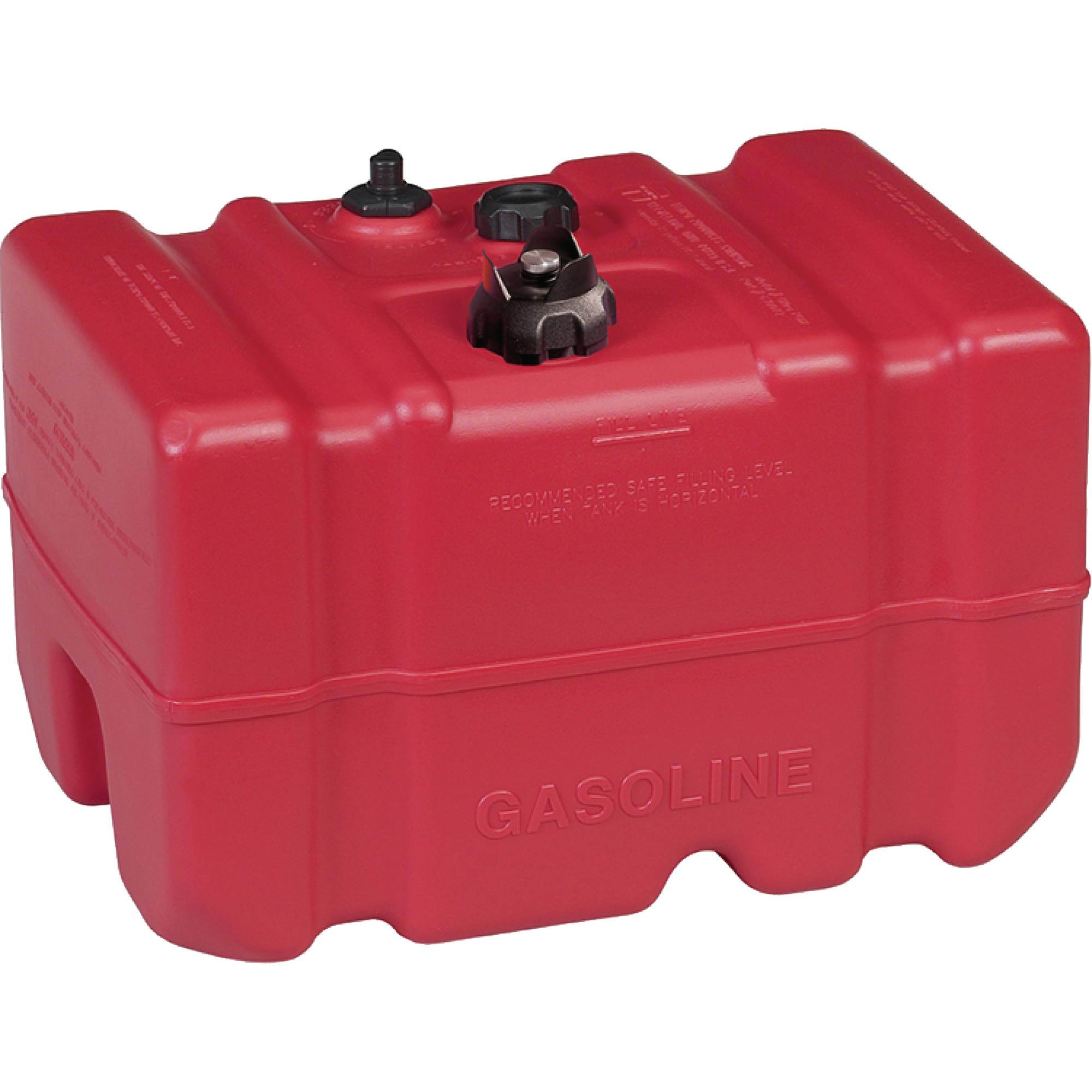 """Moeller Low Perm Certified Fuel Tank 12 Gallon with 1/4"""" Fuel Pick-Up Adapter and Mechanical Direct Sight Gauge"""