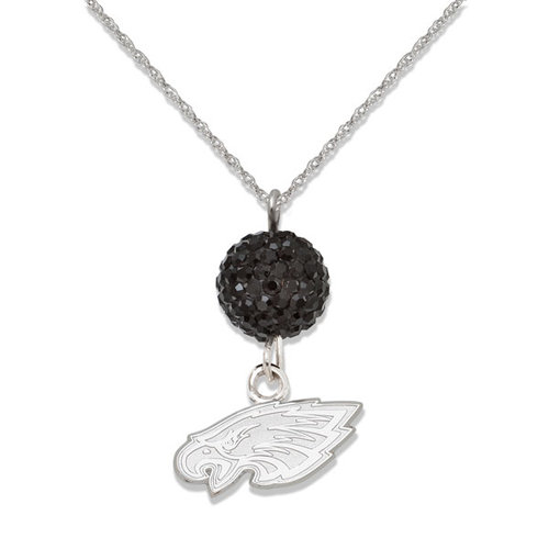 Philadelphia Eagles S/S PHILADELPHIA EAGLES CRYSTAL OVATION NECKLACE