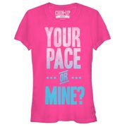 Chin Up Juniors' Pace Yourself Hot Pink T-Shirt