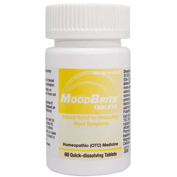 HelloLife MoodBrite Tablets - Natural Homeopathic for Relief of Depressive Moods
