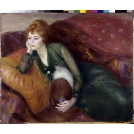 Young Woman in Green  ca1900 William James Glackens  Oil on canvas  St Louis Art Museum St Louis Missouri  Poster Print - Woman In Light