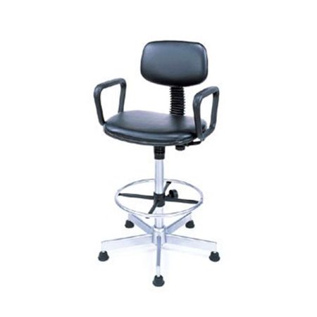 Nexel Industries Scl27gy 25 29 Adjustable Height Swivel Chair With Loop Arms  Gray
