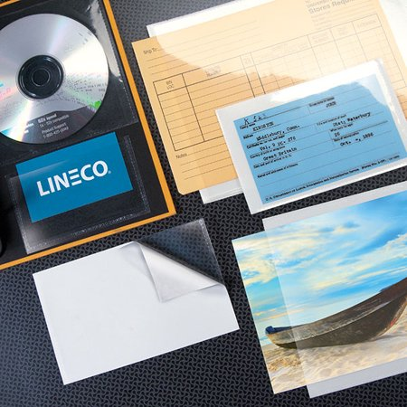 Lineco Peel-Stick Clear CD Pockets 5x5 (10)