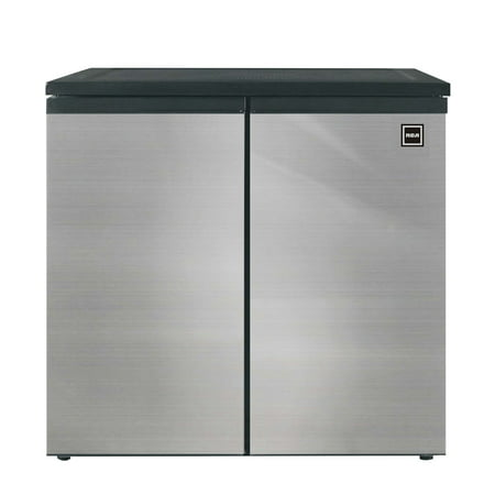 RCA 5.5 Cu Ft Side by Side 2 Door Fridge Freezer RFR551, Stainless