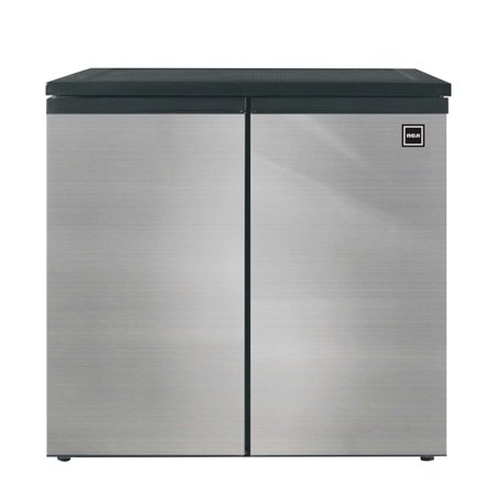 - RCA 5.5 Cu Ft Side by Side 2 Door Fridge Freezer RFR551, Stainless