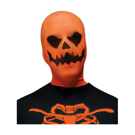 Scary Evil Pumpkin Jack-O-Lantern Stocking Fabric Mask Costume -
