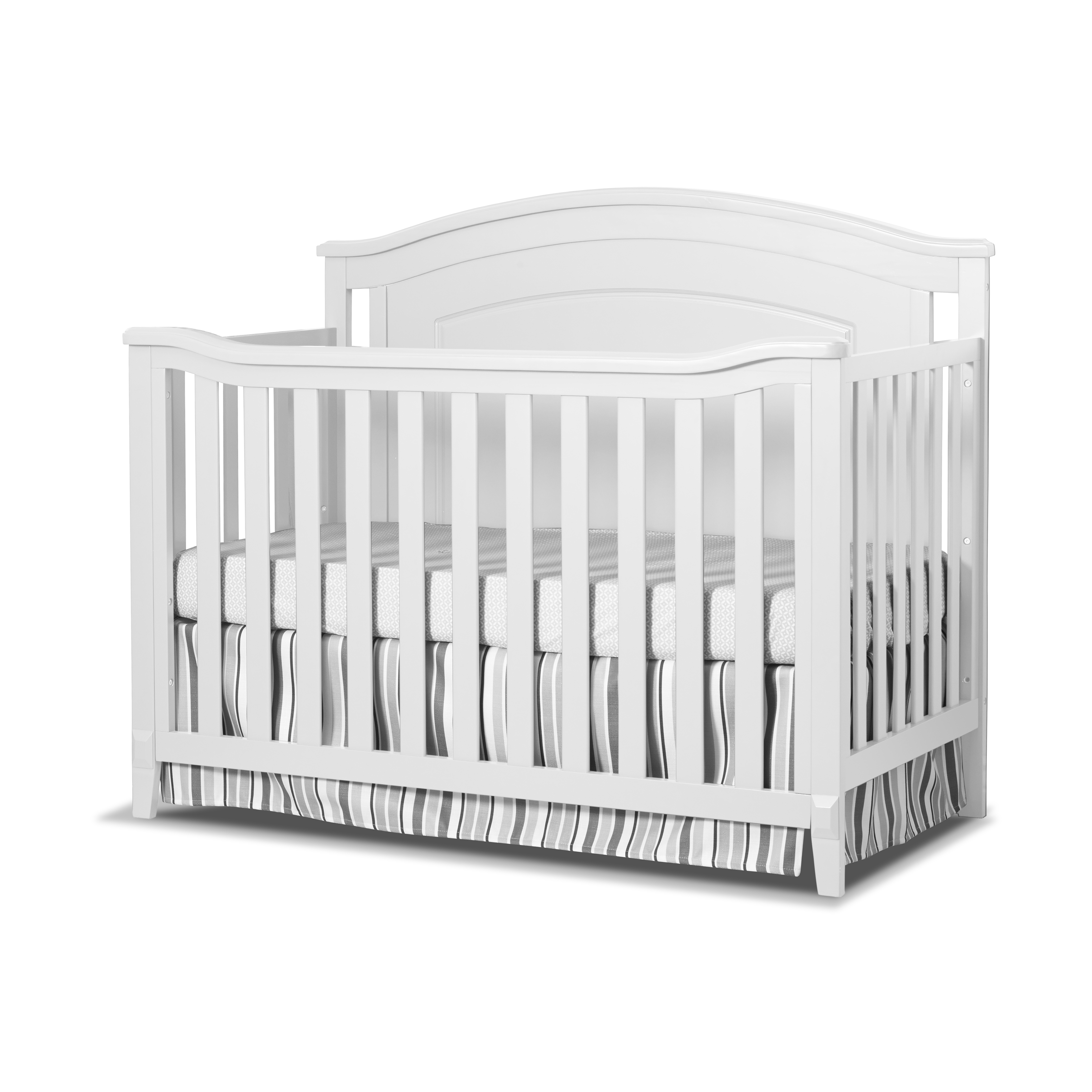 Sorelle Glendale 4 in 1 Convertible Crib, White