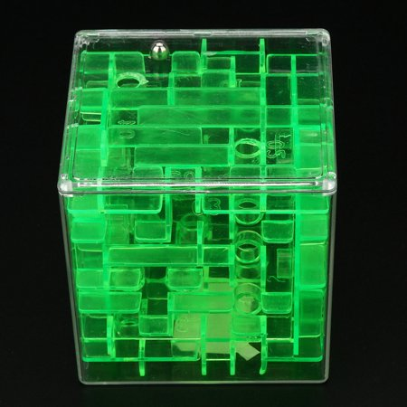 Outtop 3D Cube Puzzle Maze Toy Hand Game Case Box Fun Brain Game Challenge Fidget Toys](Cubes Games)