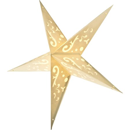 Paper Star Lantern (24-Inch, Ivory) - For Home Decor, Parties, and Holiday Decorations](Stars For Decorations)