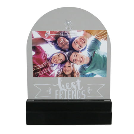 """LED Lighted Best Friends Picture Frame with Clip - 4"""" x 6"""""""