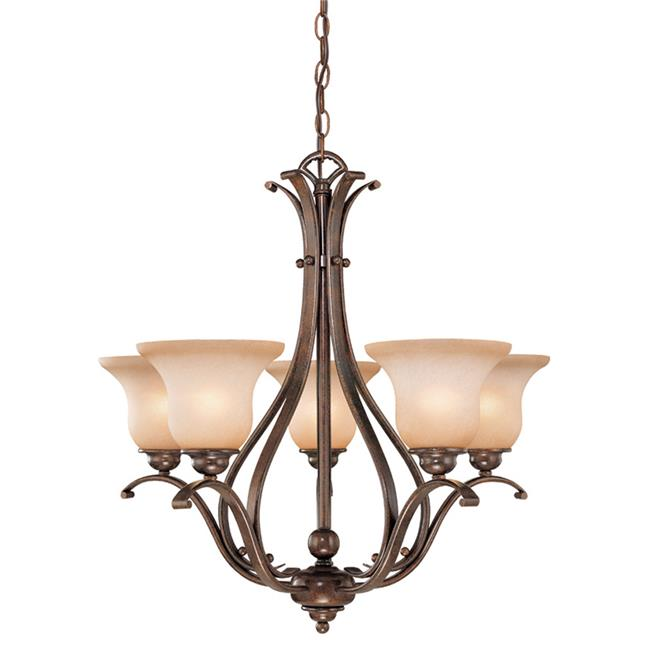 Vaxcel International CH35405RBZB 5 Light Monrovia Chandelier, Royal Bronze